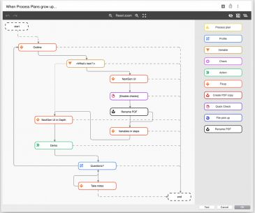 One key new feature of pdfaPilot 9 is the workflow editor, which makes even complex processes easier to implement