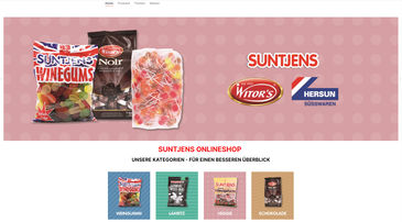 Screenshot vom SUNTJENS-Online-Shop