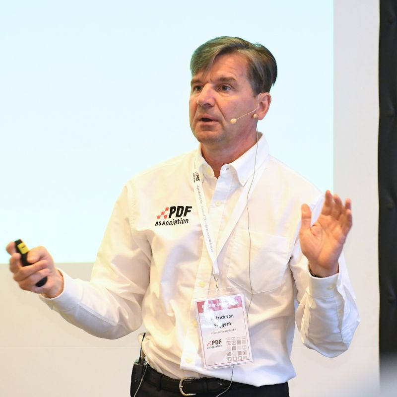 Picture from Dietrich von Seggern, Managing Director at callas software