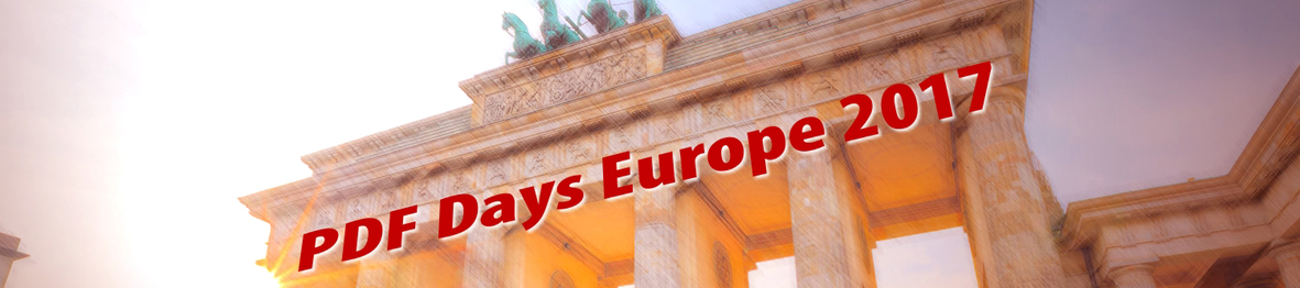 Imagebild PDF Days Europe 2017 mit Brandenburger Tor
