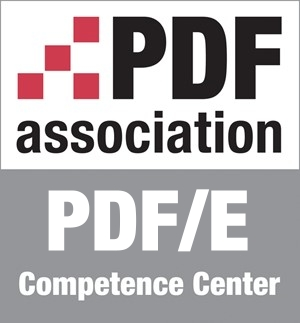 Logo PDF/E Competence Center, PDF Association