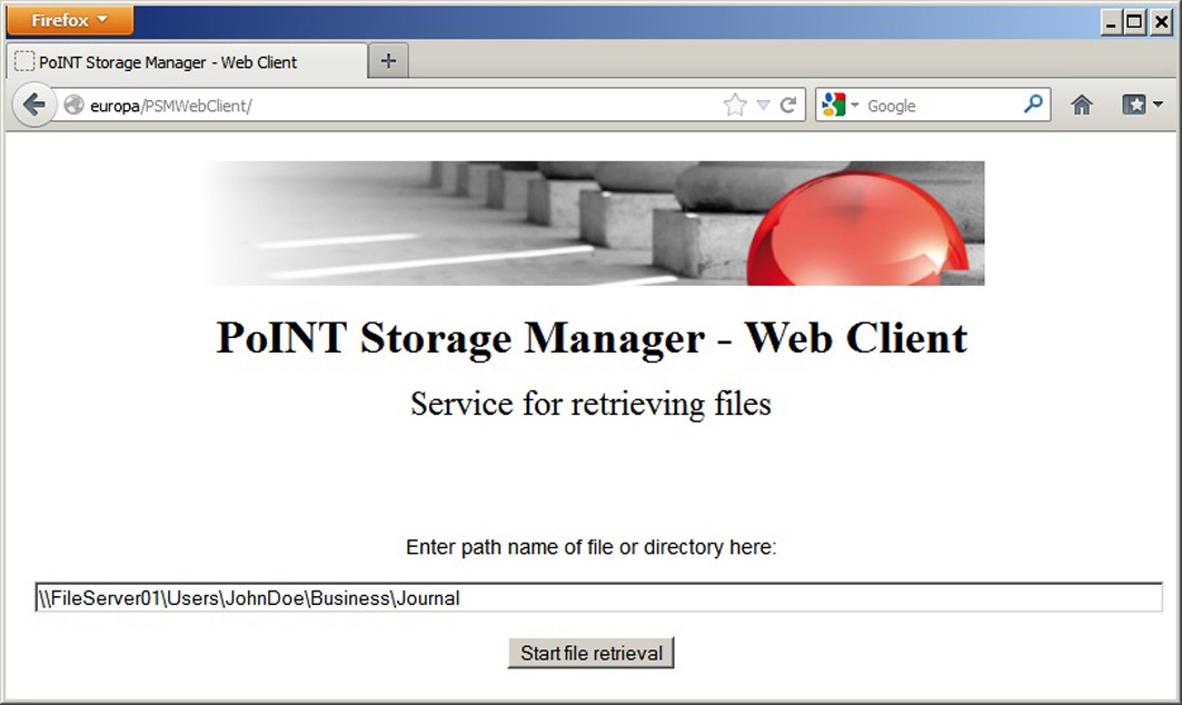 PoINT PSM Web-Client