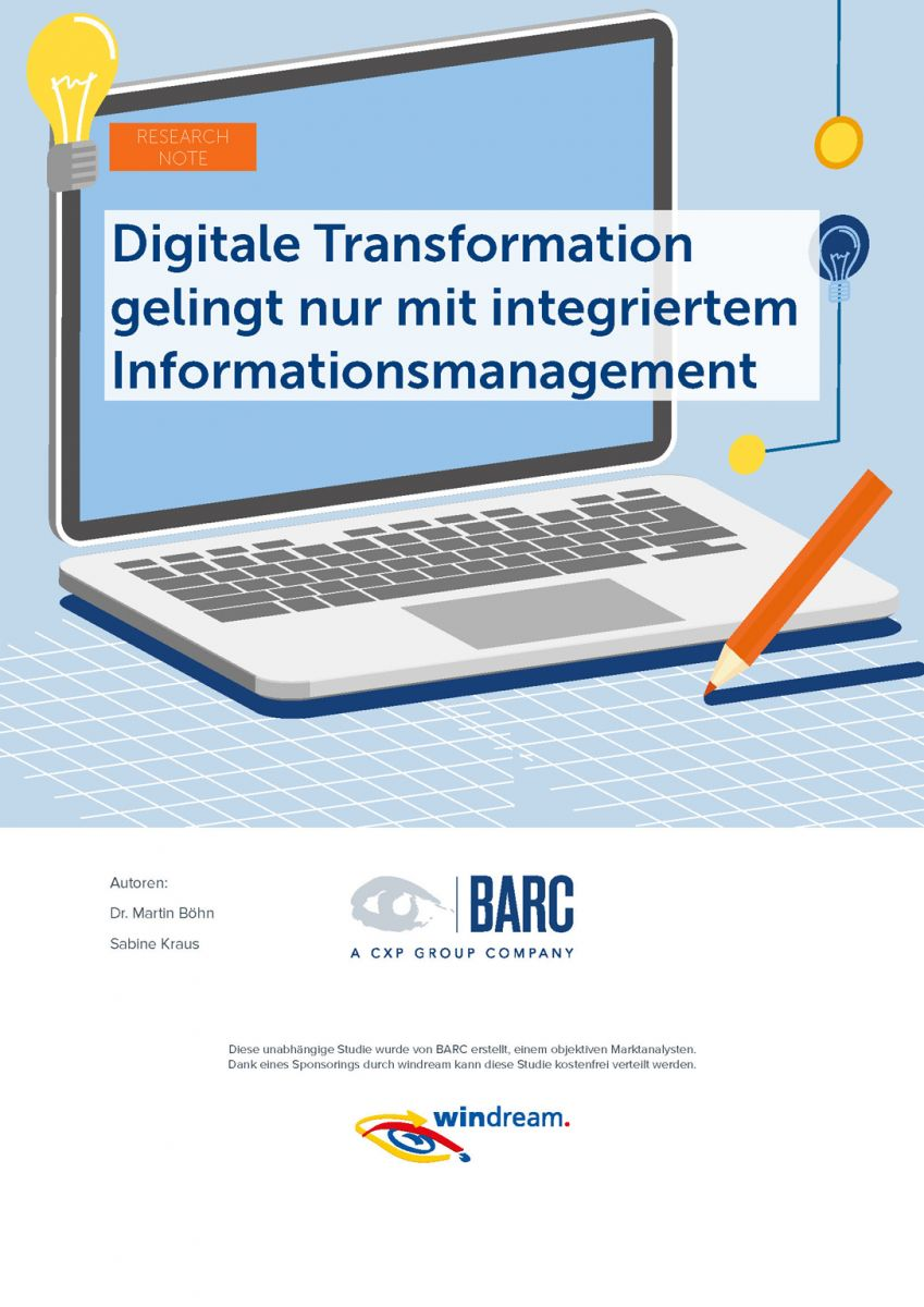 Cover der Research Note zur digitalen Transformation von BARC (Quelle: BARC)