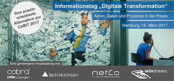 "Imagebild zum Informationstag ""Digitale Transformation"""